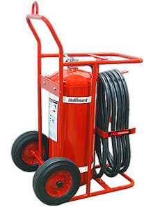 H3R Performance HalGuard Premium Clean Agent Fire Protection:  150 lb Wheeled Fire Extinguisher