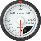 Defi Advance CR 60mm White Gauge : Boost 2.0 Bar