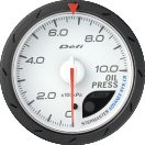 Defi Advance CR 60mm White Gauge : Oil Pressure