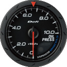 Defi Advance CR 60mm Black Gauge : Oil Pressure