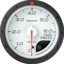 Defi Advance CR 60mm White Gauge : Fuel Pressure