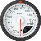 Defi Advance CR 60mm White Gauge : Exhaust Gas Temp