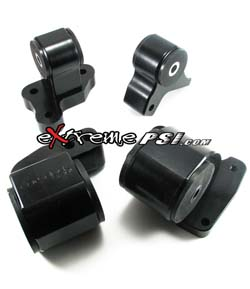 Avid Racing Limited-Edition Black Billet Motor Mounts 4-Piece (75A): 1G DSM (M/T AWD Only) *SALE*