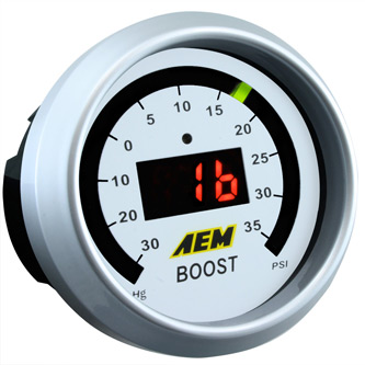 AEM Digital Boost Display Gauge 30Vac - 35PSI