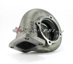 "Bullseye Power HX35 Turbine Housing ""Ver 2.0 - Stainless Steel"": T-3, .70 A/R, 3.0"" V-Band"