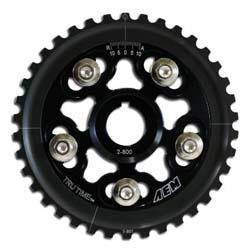 AEM Tru-Time Cam Gears (Black): 88-95 Honda Civic/ 93-95 Del Sol S & Si