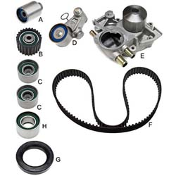 Gates Complete Timing Belt Kit (With Water Pump): Subaru WRX EJ20 02-03